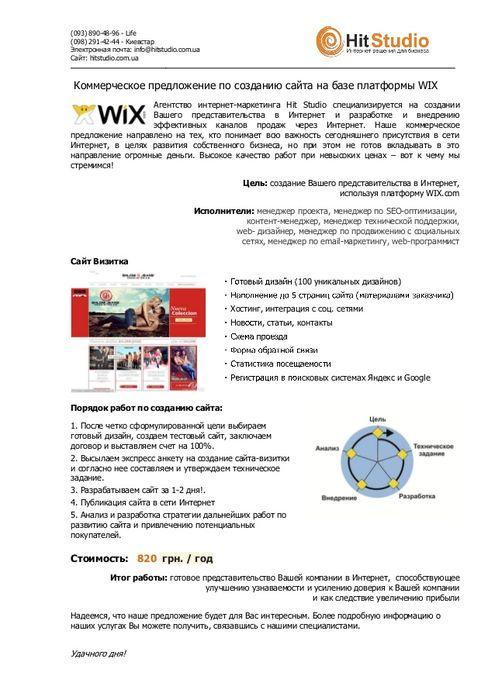 Пример КП на разработку сайта